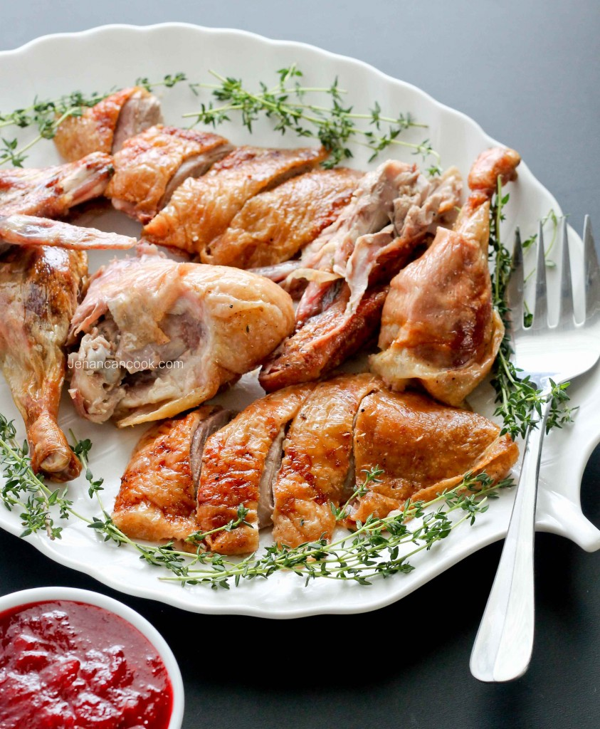 ROAST DUCK WITH CRANBERRY PEPPER JELLY SAUCE