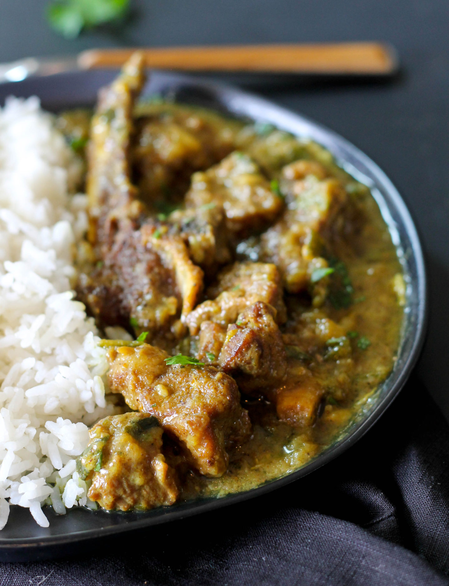 LAMB AND ZUCCHINI CURRY