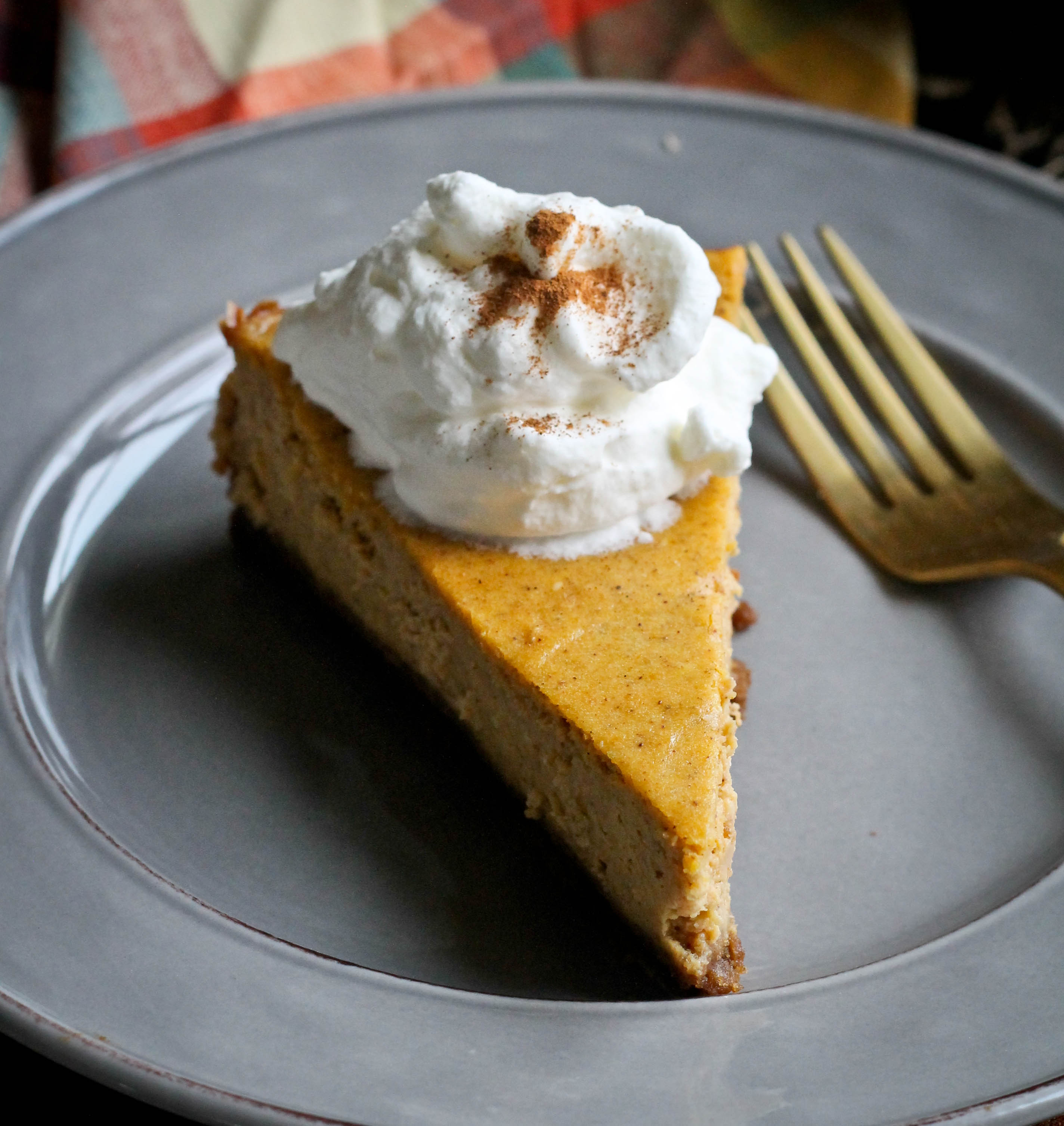 PUMPKIN CHEESECAKE WITH WHISKEY WHIPPED CREAM