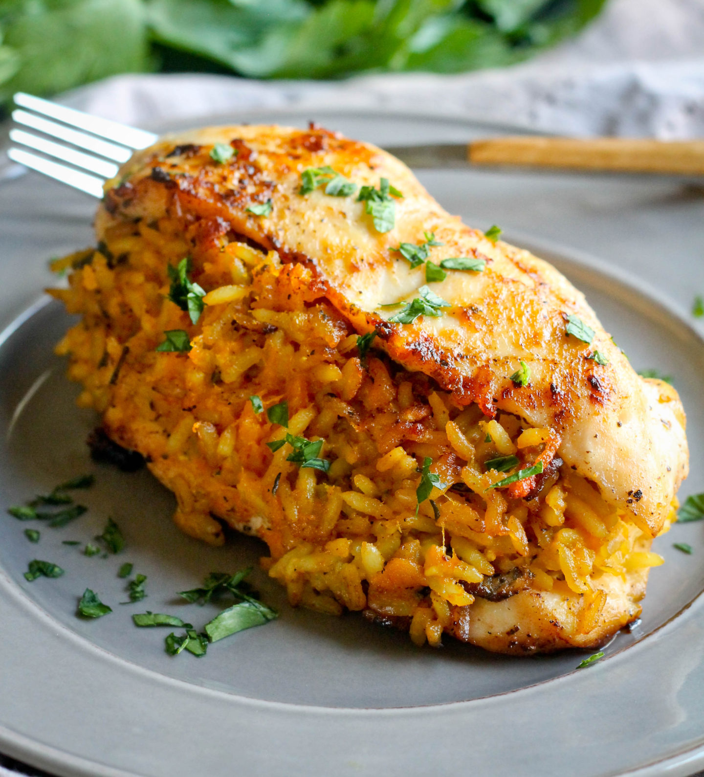 PUMPKIN RICE STUFFED CHICKEN BREAST
