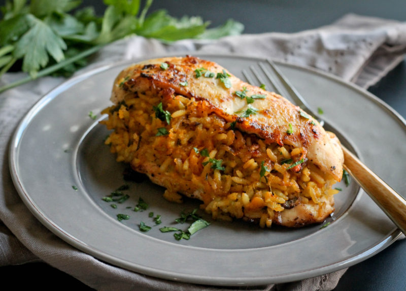 Pumpkin Rice Stuffed Chicken Breast Jehan Can Cook