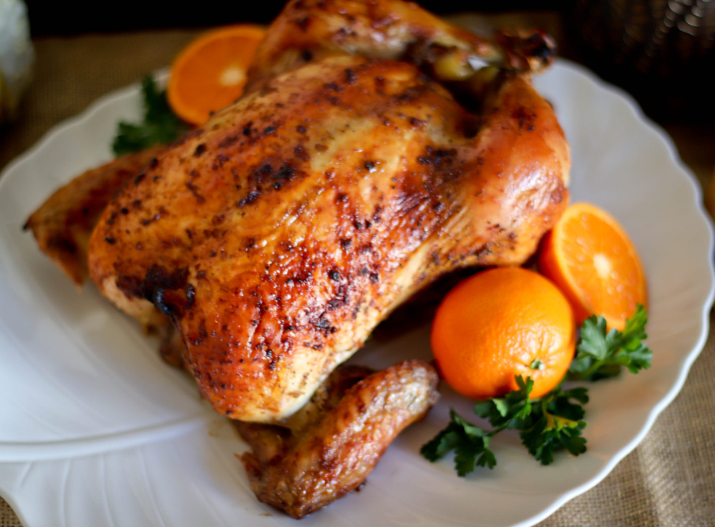 DRY BRINED ROASTED CHICKEN